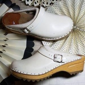 Troentorp Bastad White Clogs size 38 / 8